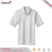 2017 Oem 100% Cotton Custom Embroidery Polo T shirt Wholesale Plain White Men