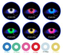 FreshTone UV glow in the dark contact eye lenses halloween party lens funny korea crazy wholesale colored contacts