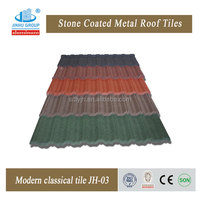hot sale 1340*420mm seven wave morden classical stone coated steel roofing tile