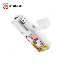 promotional universal portable cute gift custom built-in cable power bank 2500mAh