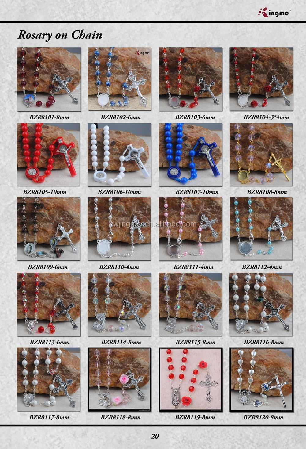 8mm Tiger Eyes Gemstone Beads Rosary for Men with 10mm Metal Glory Beads with Military Crucifix with Gift box