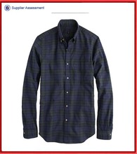 Men shirts brand names in night shadow plaid
