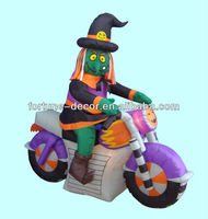 180cm Halloween inflatable witch and harvester on jar