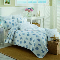 King Size Embroidered Ocean Bedding Set