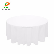 Wholesale Fancy Cheap 100% Polyester Linen 90''/108''/120''/132'' Round western white banquet/wedding table cloth for sale