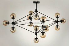 Sputnik Industrial Edison Bulbs Pendant Lamp modern chandelier for high ceilings jason miller modo