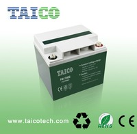 Rechargeable 40ah agm deep cycle batteries for Solar Energy UPS