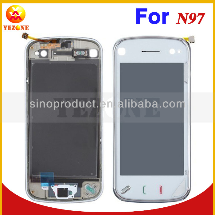 High Quality Cellphone Parts For NOKIA N97 LCD Display Screen Touch Panel
