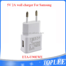 Original 5V 2A Charger Charging Data Cable For Samsung mobile phone chargeur in EU plug