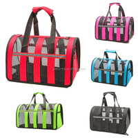Outdoor Dog Bags Travel Pet Stripe Breathable Cat Carrier Colorful HandBag Easy Carry Pet Bag