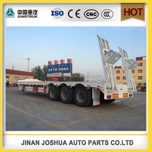 SINOTRUK HOWO head truck 3 Axle Low bed sinotruk howo semi trailer/container semi trailer/1 x 40ft container loading flat bed se