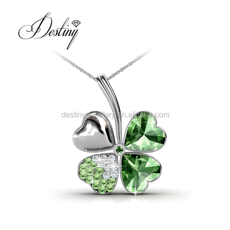Destiny Jewellery fashion new Selling Four Leaf pendant 18K gold plating Embellished with Crystal from Swarovski DP0326