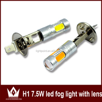 Super Bright H1 7.5W LED Headlight Car LED Front Headlights High Power auto Fog Bulb Lights Lamp White 6000K