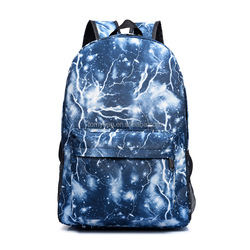 Star Sky Printed Unisex School Bag Laptop Bag Outdoor Galaxy Night Light Backpack