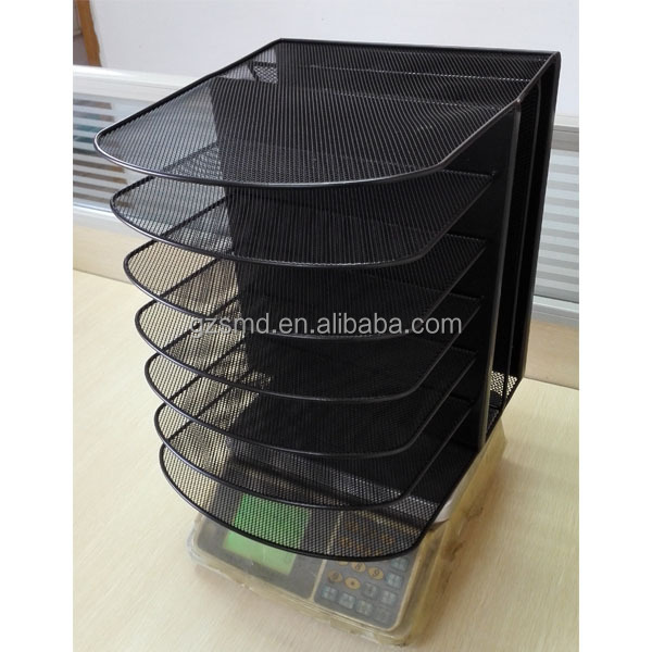 Black Metal Office Mesh Desk Organizer