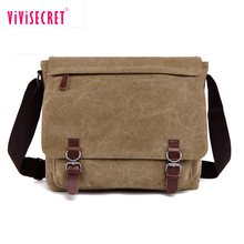 Khaki cheap men cross body bag best youth canvas big mens messenger bag for college