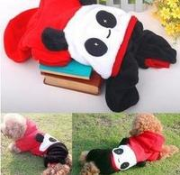 Hot selling china red pandas Happy panda dog clothes pet clothes dog teddy winter autumn clothes