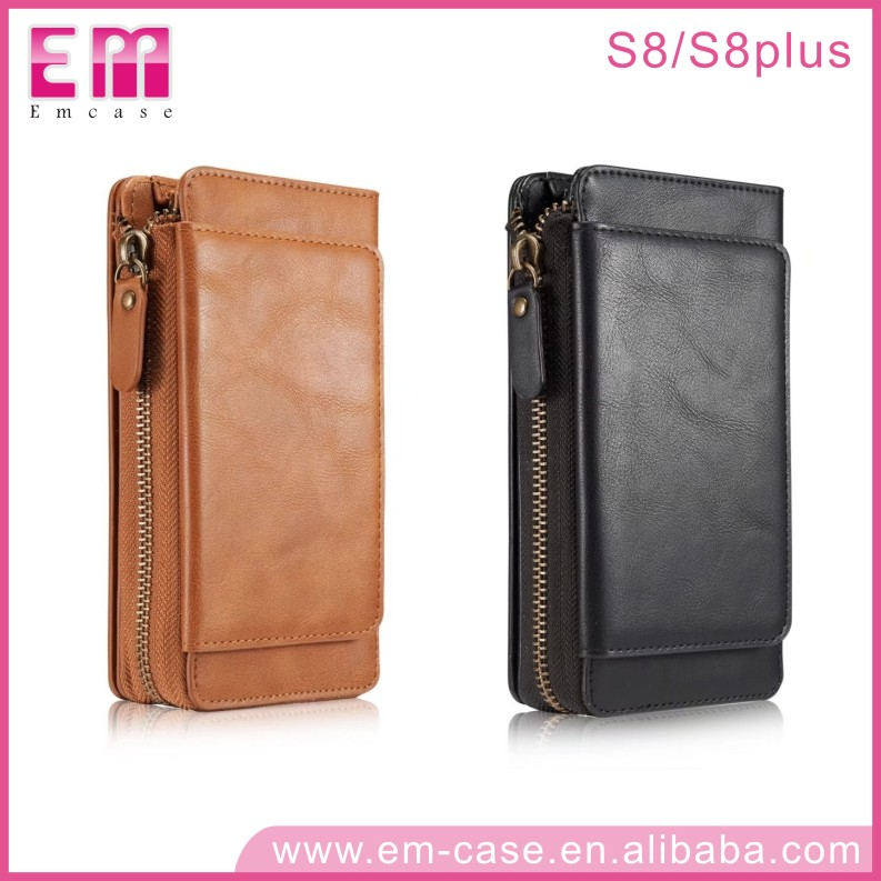 For Samsung Galaxy S8 Genuine Leather Wallet Phone Case