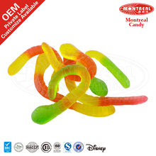 Snake Shaped Gummy Jelly Candy With Colorful Color