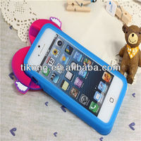 Angel heart-shaped tpu cases for iphone5c mobile phone