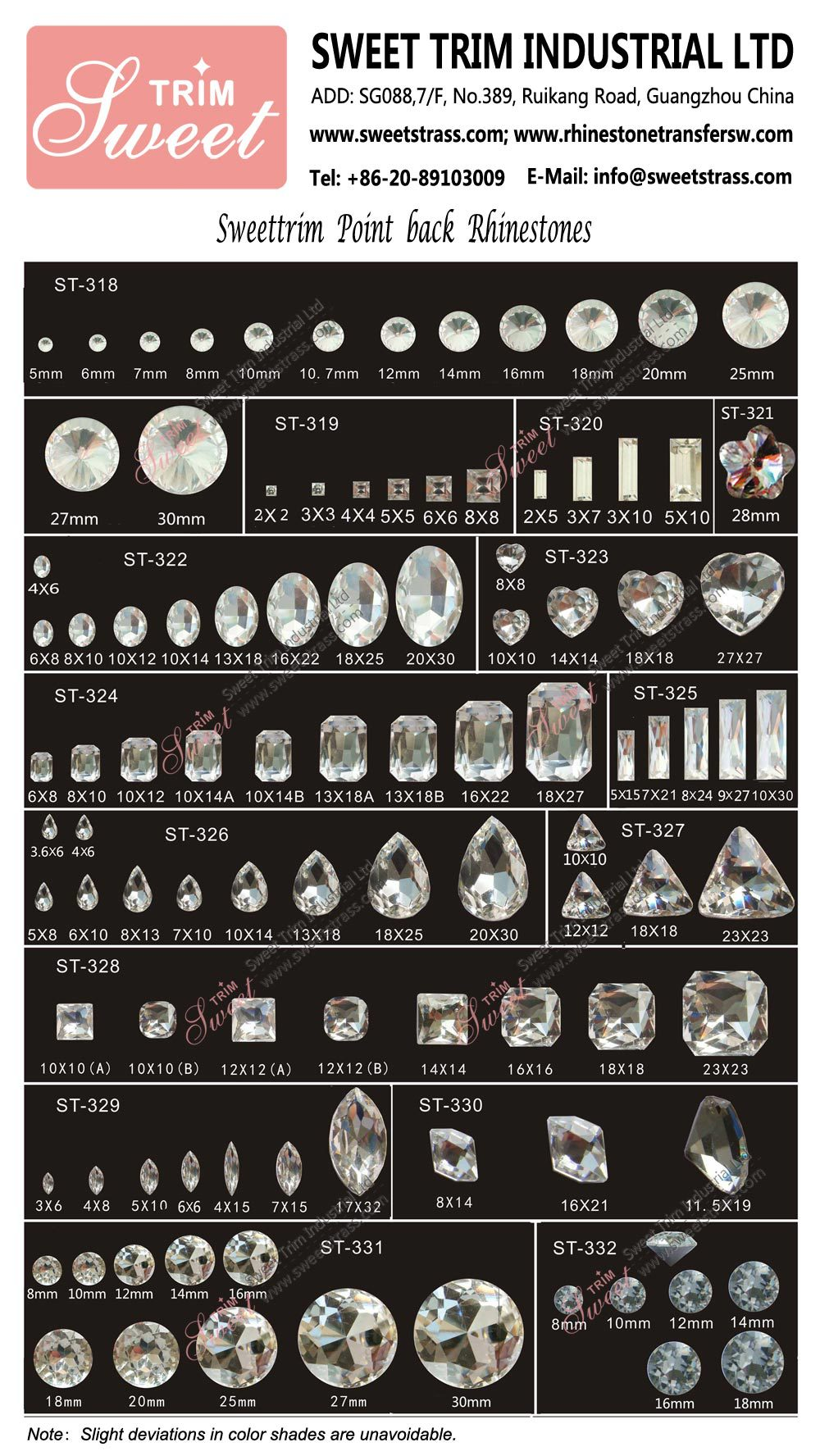 Factory wholesale sew on stone, sew on crystal rhinestones