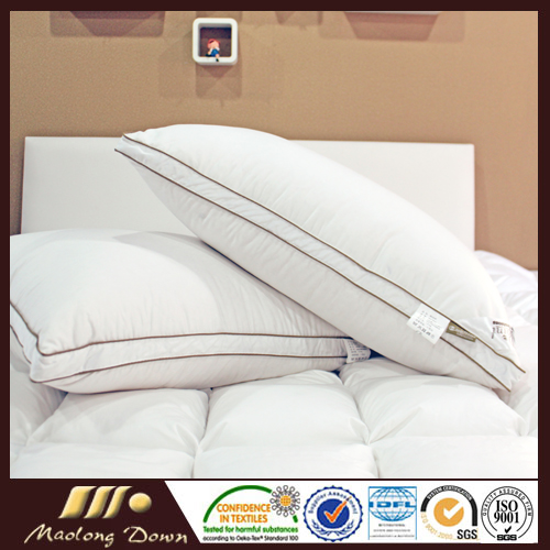 400TC 100% Cotton White Goose Down Pillow