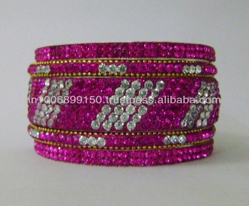 5 Pieces Set of Crystal Bangles
