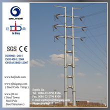 10 to 1000kV Conical or Octagonal or Polygonal Hot Dip Galvanized Power Transmission Pole Steel Pole