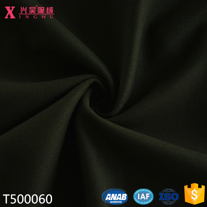 T500060 high quality army green 100% merion wool melton wool woven fabric for winter overcoating on line