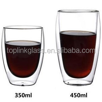 Double Wall Glass Tea Cup /Double wall glass espresso glass coffee cup /double layer glass