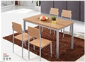 Foshan Factory Directly sale wooden dining table set / melamine dining table set