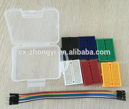 Breadboard Kit with 6 pcs 170 ponit breadboard and jumper wire