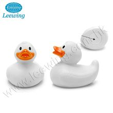 PVC White Baby Bath Weighted Floating Race Duck