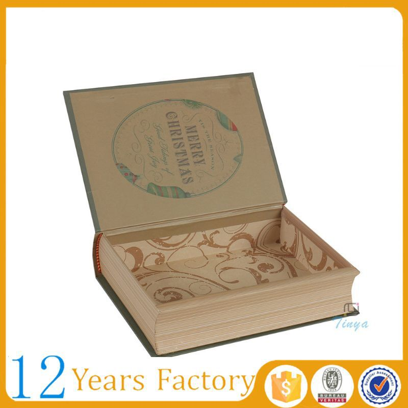custom cardboard decorative book shaped boxes