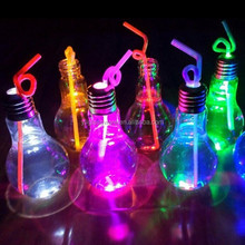 hot selling different sizes bulb shape led drinking glass