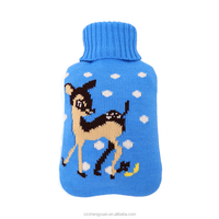 Pvc hot water bottle animal plush covers