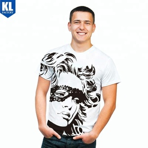 Hot Sell Promotional fashion Design 100% Cotton men's t shirt digital print