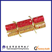 cheap customed promotional christmas candy crackers