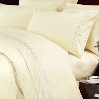 Polycotton modern design lace warm bed sheets