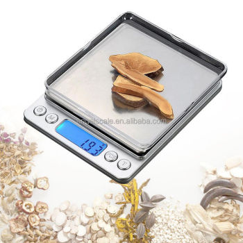 3kg/0.1 electronic weighing scale mini digital pocket kitchen scale with stainless steel