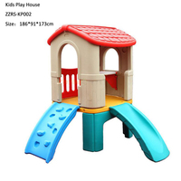 preschool playground durable plastic toys children play house with slide