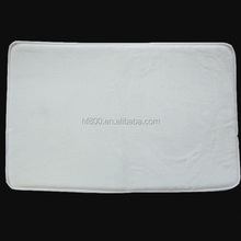 40*60cm sublimation blank white non-woven fabrics ground mat floor mat place mat