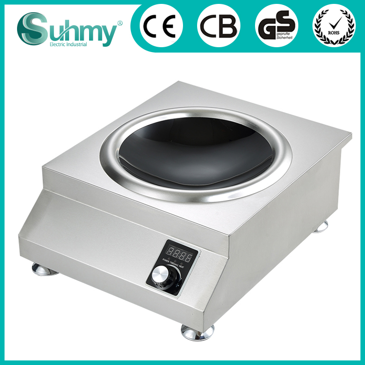 Multi power rate 220V crystal glass hotpot commerical induction cooker 5000W