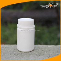 HDPE White Cylinder Plastic Bottle 60ML for Vitamin Container