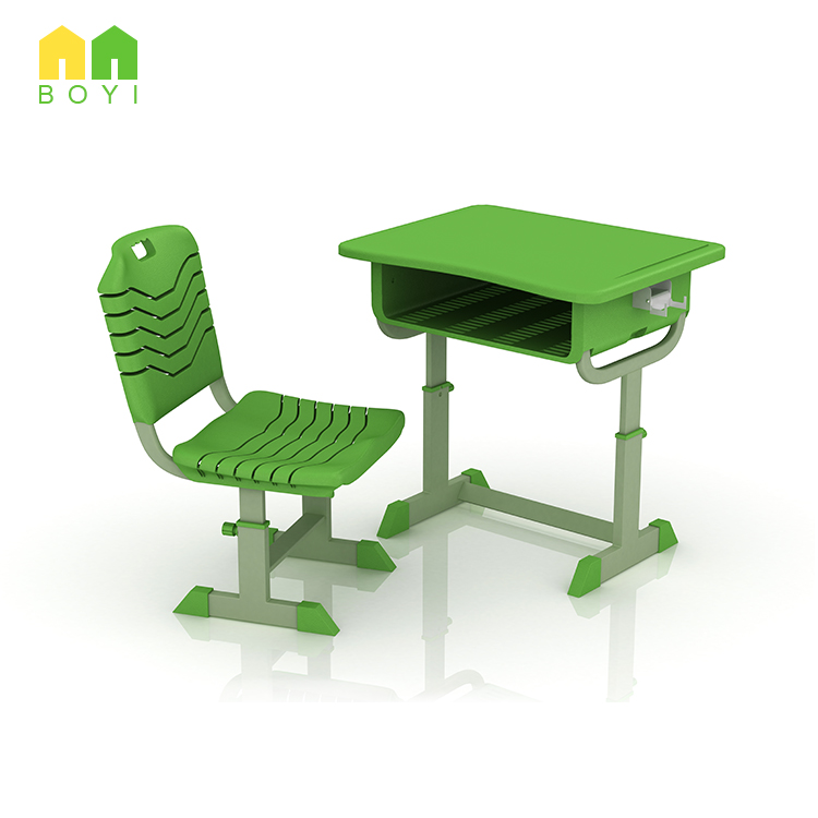 New arrival school furniture modern design high performance ABS moding table top student desk and chair