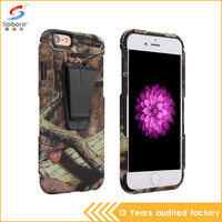 Camouflage color tpu pc combination back splint shockproof cover for iphone 6 case