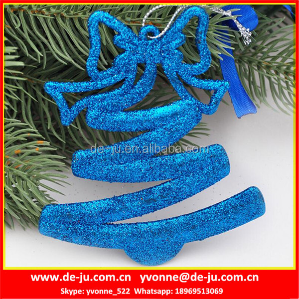 Shinny Blue Make It Christmas Ornaments