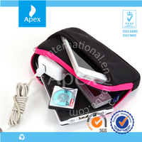 Multipurpose portable travel data line and mobile phone bag