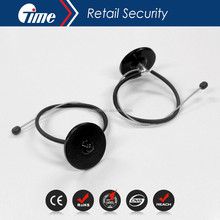 Ontime EAS Anti-Theft Wine Security Bottle Neck Hang Tags With 480mm Metal Lanyard Cable With Ball BT3019