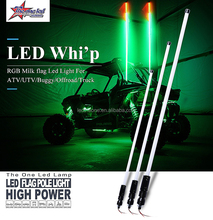 Factory Price Hot Selling 4FT 5FT 6FT Quick Release Red Blue Green White Green Color LED Whips for Buggy ATV UTV Sxs Rzr Offroad